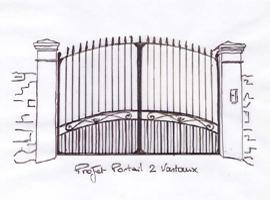 Pin le croquis de la chambre urban spirit vibel pour l on for Crouqui des portail coulissant tours
